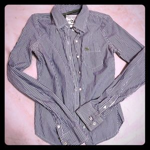 Abercrombie & Fitch Tops - Abercrombie & Fitch Striped Button Down